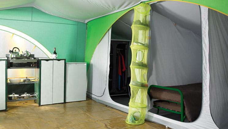 Bungalowtent Ingerichte Bungalowtent Huren Op Camping