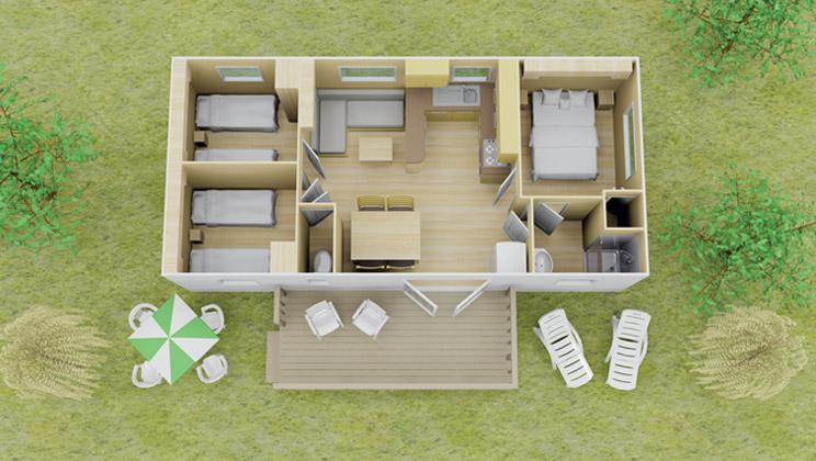 esprit stacaravan | 3 slaapkamer | 8 personen | eurocamp.nl, Deco ideeën
